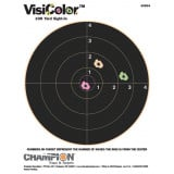 """Champion VisiColor High-Visibility Paper Targets 8"""" Bull, 8.5"""" X 11"""", 10/Pack"""
