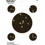 "Champion VisiColor High-Visibility Paper Targets 8"" Bull w/4 extra Bulls, 10/Pack"