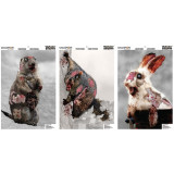 """Champion VisiColor Zombie Targets Cute Animals Variety, 12"""" X 18"""", 6/Pack"""