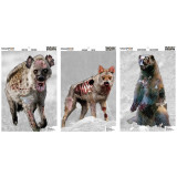 """Champion VisiColor Zombie Targets Vicious Animals Variety, 12"""" X 18"""", 6/Pack"""