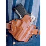 DeSantis Style 002 Speed Scabbard for Glock 19/23/32/36 Tan Right Hand 3 Slot
