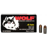 Wolf Polyformance Handgun Ammunition .45 ACP 230 gr FMJ 850 fps 50/box