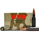 Wolf WPA Military Classic Rifle Ammunition .308 Win 168 gr FMJ  - 20/box