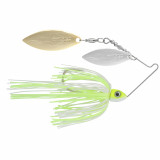 Eco Pro Tungsten Rapid Fire Double Willow Spinnerbait Lure 3/8 oz - Hot Chartreuse