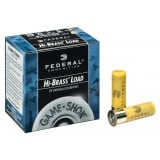 "Federal Game-Shok Hi-Brass Load 20 ga 2 3/4"" 2 3/4 dr 1 oz #4,5,6,7.5 1220 fps - 25/box"