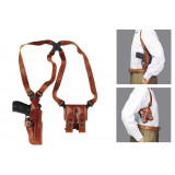 """Galco 1911 Style 5"""" Vertical Shoulder System Ambidextrous Tan"""