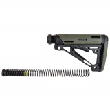 Hogue AR-15/M-16 OM Collapsible Buttstock Assembly with Buffer Tube and Hardware-OD Green Rubber