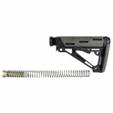Hogue AR-15/M-16 OM Collapsible Buttstock Assembly with Buffer Tube and Hardware-Ghillie Green Rubber
