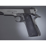 Hogue Colt Government Grips .45, 1911 Rubber Panels with Palm Swells - Black