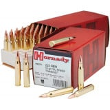 Hornady Custom Centerfire Rifle Ammunition .223 Rem 55 gr FMJBT 3240 fps - 50/box