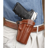 Hunter Leather Open Top Holster, Colt Commander, Right Hand, Tan