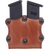 Hunter Leather Double Magazine Pouch Open Top - Single Stack Magazine
