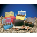 J&J Hinge-Top Rifle Ammo Case 50 Rounds of Medium Rifle .22-250 to .308