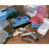 J&J Hinge-Top Rifle Ammo Case 100 Rounds of .17 Rem to .223