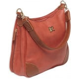 Bulldog Hobo Style Conceal Carry Purse W/ Holster - Brick Red W/ Tan Trim
