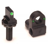 Ameriglo AR Sight Set Fits AR-15/M16 / Front & Rear Night Sight - Green/Green
