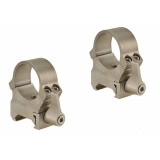"Leupold 2-Piece QRW (Weaver Style Quick Release) Rings - 1""  High, Silver"