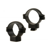 "Leupold 2-Piece STD Windage Adjustable Steel Rings 1"", Medium, Matte"