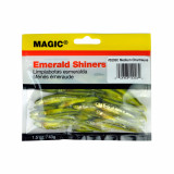 """Magic Products Preserved Baits Emerald Shiner Minnows 1.5 oz Pouch 2-3"""" - Medium Chartreuse"""
