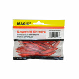"""Magic Products Preserved Baits Emerald Shiner Minnows 1.5 oz Pouch 2-3""""- Medium Red"""