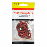Magic Products Preserved Baits Night Crawler .60 oz 6/ct - Red