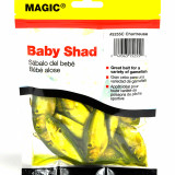 """Magic Products Preserved Baits Shad 4 oz Pouch 3-4"""" - Chartreuse"""