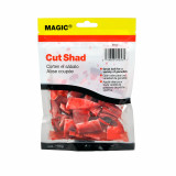 Magic Products Preserved Baits Cut Shad 4 oz Pouch - Red