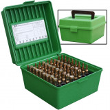 MTM Deluxe R-100 Series Rifle Ammo Box - 100 rd, Green