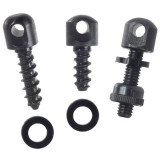 Outdoor Connection Swivel Base, 3-Piece Screw Set - Black