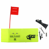 Opti Tackle Large Planer Board w/ Flag System Right - Lime Green