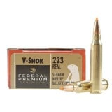 Federal Premium V-Shok Rifle Ammunition .223 Rem 55 gr BT 3240 fps - 20/box