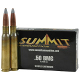 Summit Centerfire Rifle Ammunition with New Brass .50 BMG 750 gr A-MAX  - 10/box