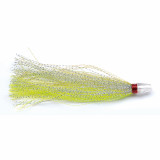 """P-Line Squid Inserts Skirt Terminal 4-1/2"""" 3pk - Green/Charteuse/Silver"""