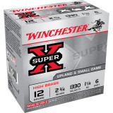 "Winchester Super-X High-Brass 12 ga 2 3/4"" 3 3/4 dr 1 1/4 oz #4 1330 fps - 25/box"