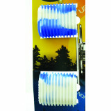 Reel Grip Reel Handle Accessory Cover - Blue & White