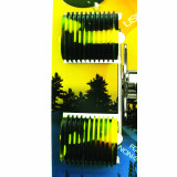 Reel Grip Reel Handle Accessory Cover - Black & Yellow