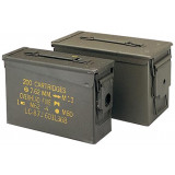 "USED Rothco .50 Cal Ammo Can - Surplus 11"" x 7"" x 5 1/2"""