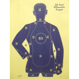 Speedwell Official NRA Police Qualification Silhouette Police Silhouette Reduced 5 X Ring Blue - 200/Pack