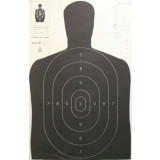 Speedwell Official NRA Police Qualification Silhouette Police Silhouette - Black - 200/Pack