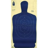 Speedwell Official NRA Police Qualification Silhouette Police Silhouette - Blue 50 yd., 100/Pack