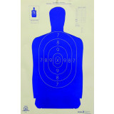 """Speedwell Official NRA Police Qualification Silhouette Police Silhouette Reduced 50 ft. 14"""" X 21.5"""""""