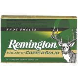 "Remington Premier Copper Solid Sabot 12 ga 3"" MAX 1 oz Slug 1550 fps - 5/box"