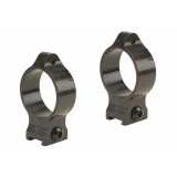 Talley 30mm Fixed Scope Rings - Black Satin - High