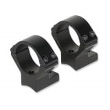 Talley Lightweight Alloy Scope Mounts - Black Anodized - 30mm - Medium, Thompson Center Venture, Stevens 200, Stiller Predator, Ruger American (SA), Savage w/ Accutrigger