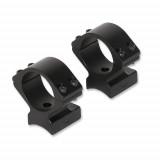 "Talley Lightweight Alloy Scope Mounts - Black Anodized - 1"" - Low, Anshutz, Black Anodized (for drilled and tapped receivers), Savage Model 25"