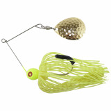 Tim Poe Thunder Lures Single Blade Spinnerbait 1/4 oz - Colorado Gold/Chartreuse