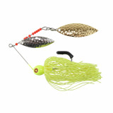 """Tim Poe Thunder Lures Double Blade Spinnerbait 1/4 oz 3-1/2"""" - Willow Gold /Chartreuse"""