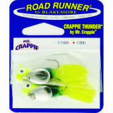 Road Runner Crappie Thunder Jig Panfish Lure 1/8 oz 2pk - Chartreuse/Junebug/Chartreuse