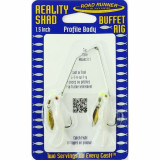 Road Runner Reality Shad Buffet Rig Fly Lure 3/16 oz - Cream Puff