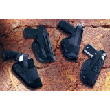 Uncle Mike's #22 Mirage Basketweave Dual Retention Jacket Slot Auto Duty Holsters